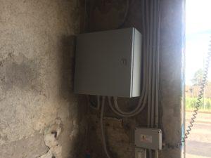 Scatola elettrica per il controllo e centralina